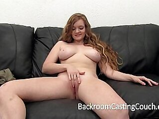 Redhead Teen First hard Anal and Creampie